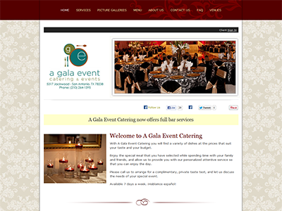 A Gala Event Catering